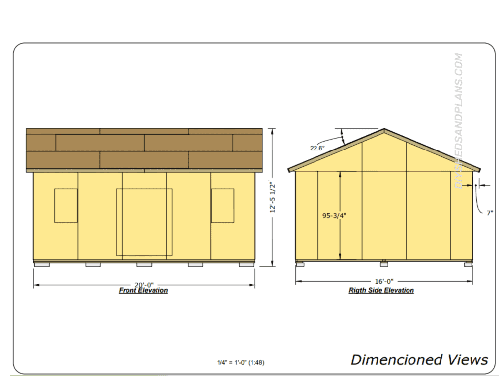 16x20 Shed Plans