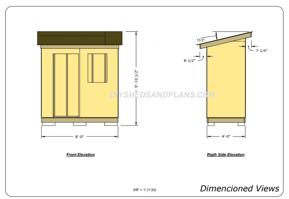 4x8 Lean To Shed Plans