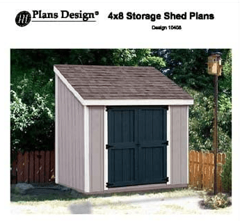 4x8 lean to shed