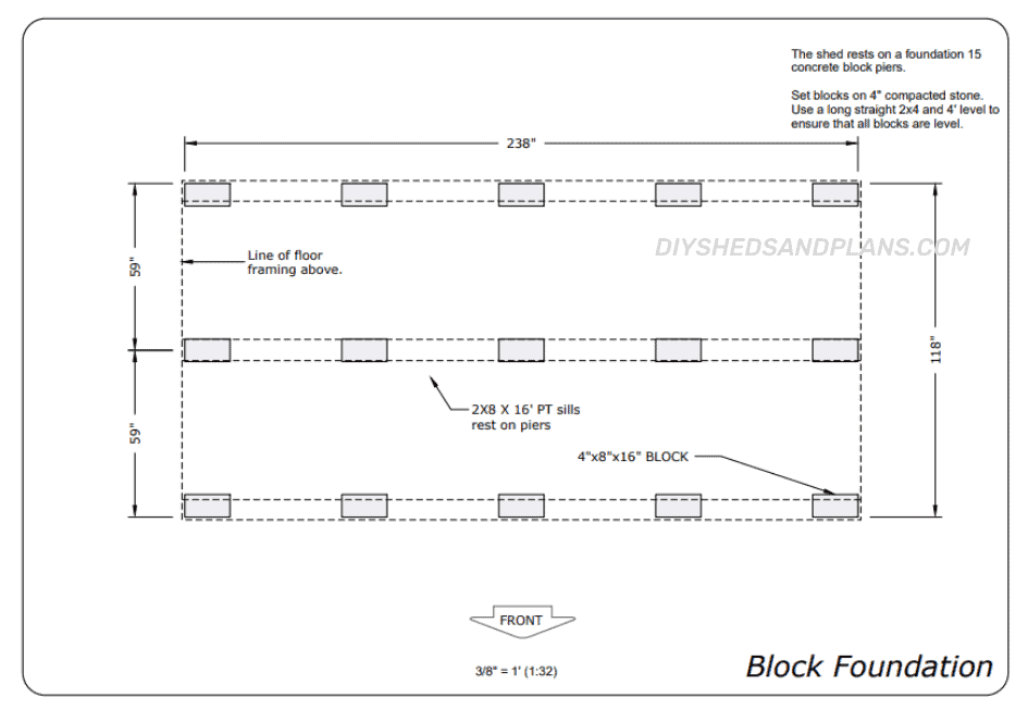 10x20 Shed Plans foundation