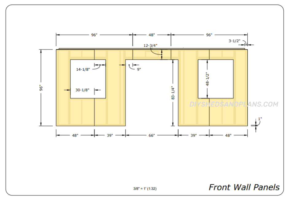 10x20 Shed Plans front