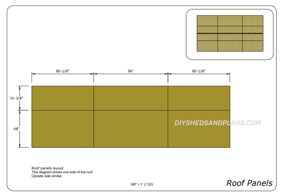 10x20 Shed Plans roof