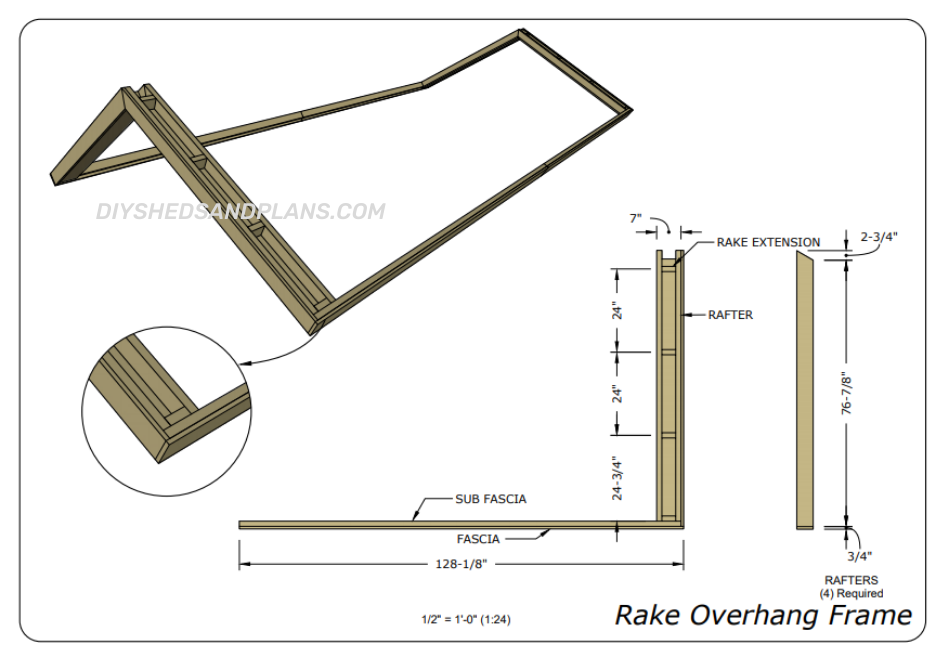 10x20 Shed Plans overhang