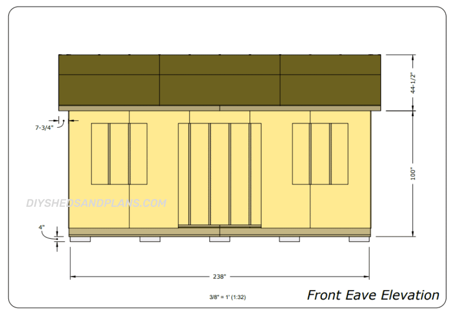 10x20 Shed Plans eave