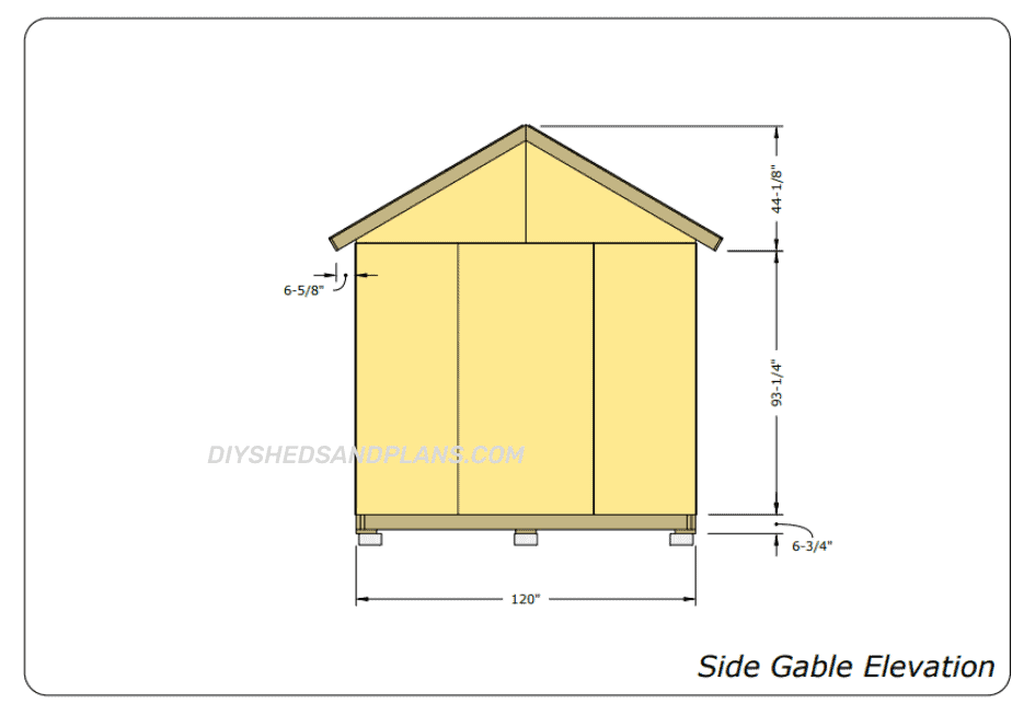 10x20 Shed Plans gable