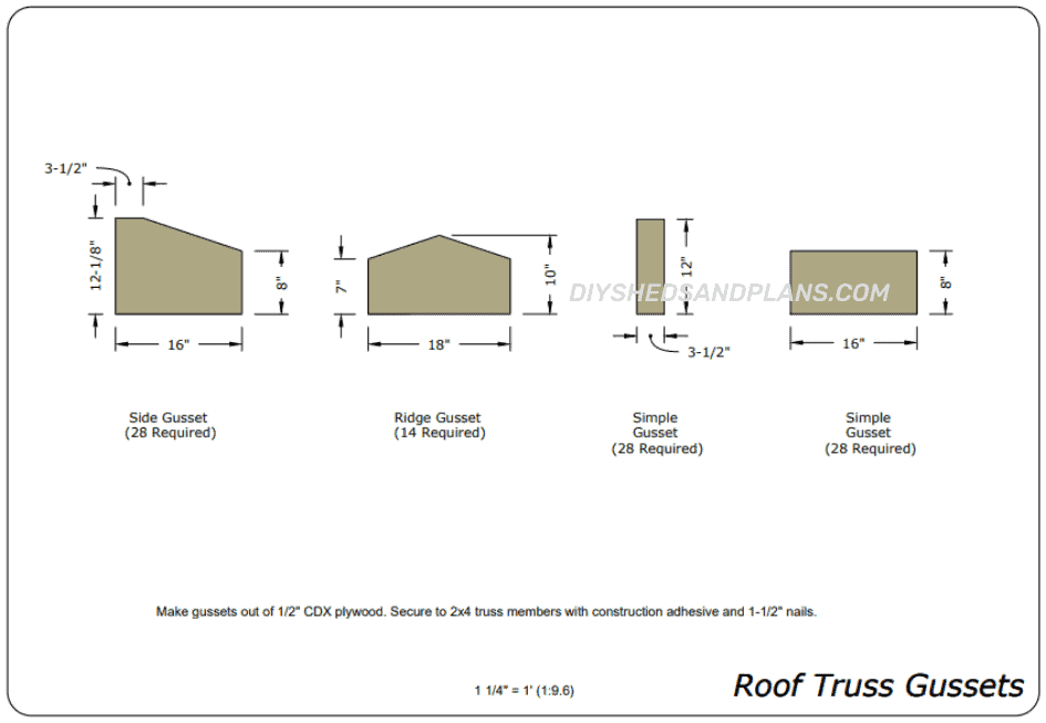 14x24 Shed Plans