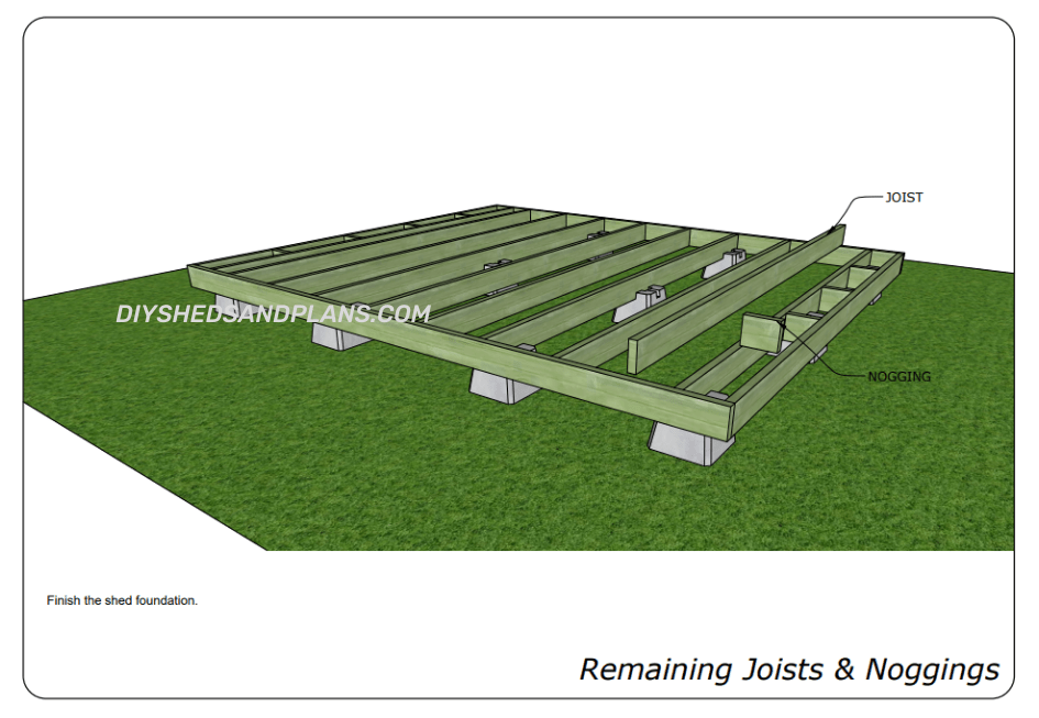 Building a shed foundation with concrete blocks