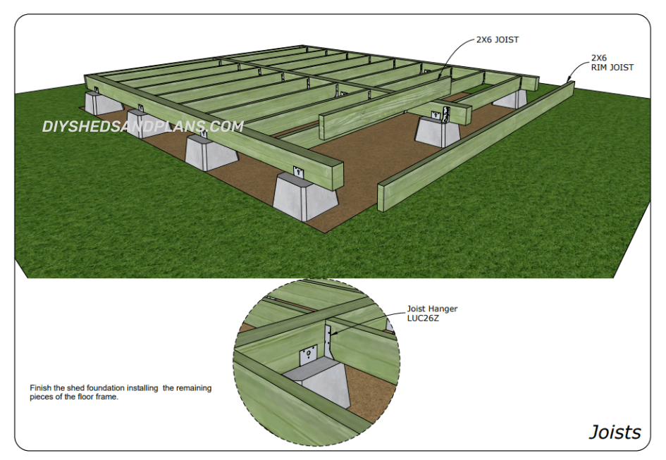 Building a shed on pier blocks